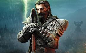 Обои Dragon Age Inquisition, соратник, Black wall