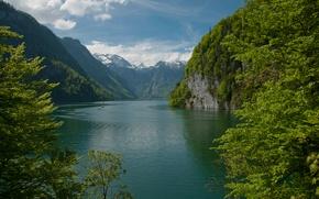 Картинка Природа, Горы, Озеро, Nature, Mountains, Lake