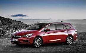 Обои красный, астра, Tourer, опель, Astra, Opel, универсал