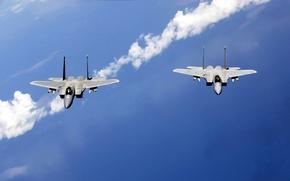 Картинка небо, пара, самолёты, патруль