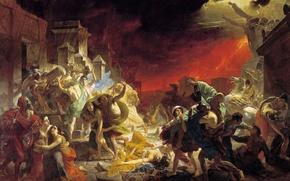 Обои картина, Последний день Помпеи, Карл Брюллов