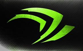 Обои фон, цвет, лого, зелёный, nvidia, бренд, нвидиа