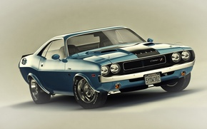 Картинка Muscle, Dodge, Challenger, Car, 1970, R/T