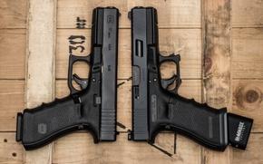 Картинка фон, стволы, пистолеты, Glock