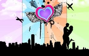 Картинка любовь, вместе, сердце, I&you