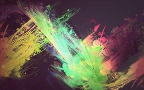 Картинка цвета, color abstract, абстракция, ярко, круги, линии, краска