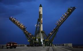 Картинка космос, Россия, союз