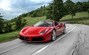 Картинка Ferrari, кабриолет, феррари, Spider, 488
