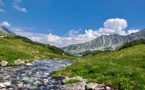 Обои пейзаж, горы, природа, река, landscape, nature, scenery, Higland River