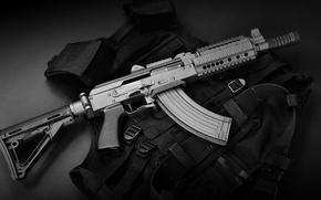 Картинка оружие, автомат, бронежилет, SBR AK