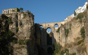 Картинка Rock, Bridge, Spain, Ronda