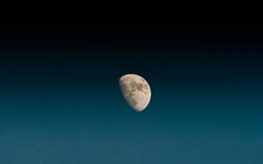 Картинка луна, небо, синий, космос