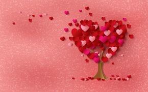 Картинка дерево, сердце, сердечки, love, heart, tree, romantic