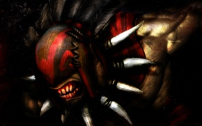 Картинка маска, арт, Bloodseeker, Dota 2, Strygwyr
