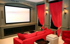 Картинка диван, кресло, телевизор, кинотеатр, плазма