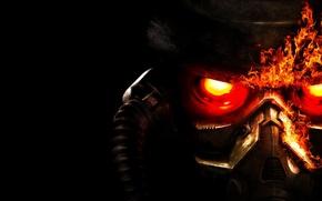 Обои Killzone 3, маска, огонь