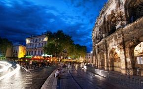 Картинка Рим, италия, колизей, пейзаж, город