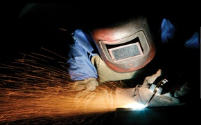 Картинка sparks, personal protective equipment, welding, electrical arc, steel fabrication