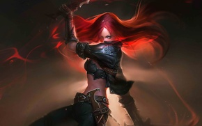 Обои оружие, Katarina, League of Legends, арт