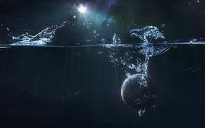Обои Звезды, Галактика, Планета