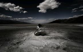 Обои ветер, облака, небо, исчезновение, человек