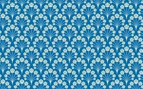 Обои голубой, узор, орнамент