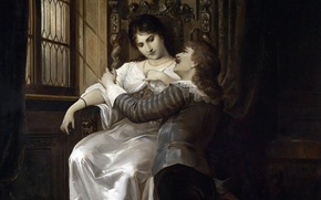 Картинка картина, Австрия, свидание, дама, lady, Austria, picture, Вена, Vienna, gentleman, 19-th century, 19-й век, Carl …