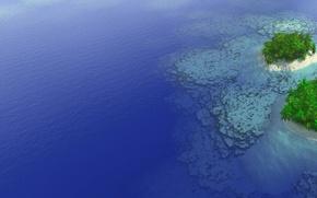 Обои море, острова, пальмы