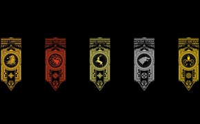 Обои wallpaper, Baratheon, crow, Winterfell, Lannister, Game of Thrones, lion, deer, kraken, A Song of Ice ...