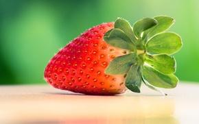 Обои клубника, ягода, красная, вкусная