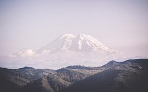 Картинка mountains, clouds, hills