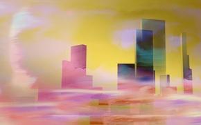 Обои город, цвет, форма