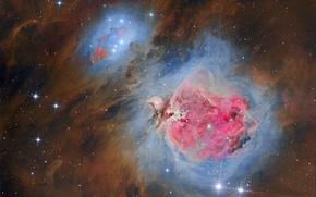 Картинка звезды, туманность, звёздное скопление, Ориона