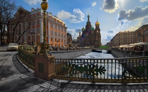 Обои 155, собор, канал, Санкт-Петербург, Питер