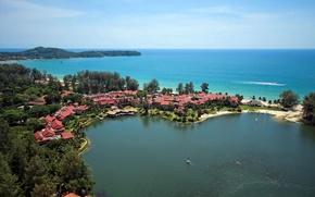 Картинка океан, берег, отель, Thailand, лагуна