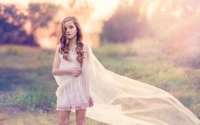 Картинка взгляд, платье, девочка