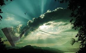 Обои небо, фантазия, природа