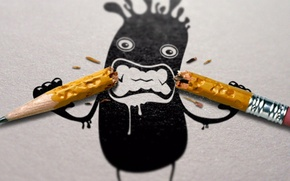 Картинка Art, Black, pencil