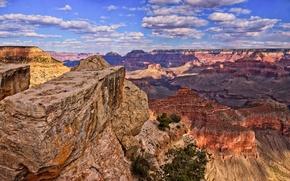 Картинка небо, пейзаж, каньон, Аризона, США, grand canyon