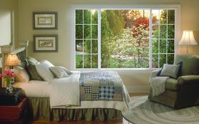Картинка стиль, интерьер, фазенда, коттедж, дом, вилла, спальня, дизайн