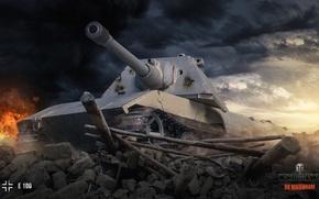Картинка гусеница, World of Tanks, E-100, Wargaming.net, E100