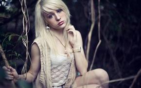 Картинка девушка, часы, блондинка, фотограф, girl, photography, photographer, Brian Storey, Chelsea Deen