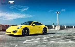 Картинка Porsche, yellow, 991 Carrera