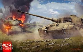 Картинка War Thunder, Королевский Тигр, Тигр, Тигр 2, Ис-2