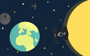 Обои star wars, Луна, galaxy, звездные войны, звезда смерти, Земля, космос, Kobe Vervoort, Designed