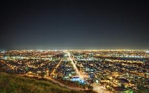 Обои калифорния, лос-анджелес, California, lights, ночь, usa, night, Los Angeles, The South Bay