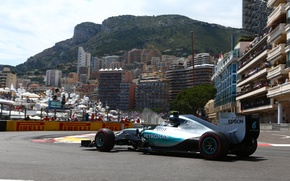 Картинка formula 1, Monaco, hybrid, Happy, Mercedes AMG, Nico Rosberg, 2015, W06