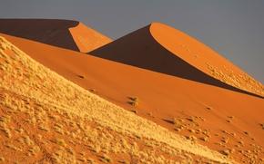 Картинка песок, небо, барханы, Африка, Намибия, пустыня Намиб