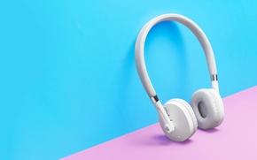 Картинка white, headphones, hi-tech, Moto Pulse