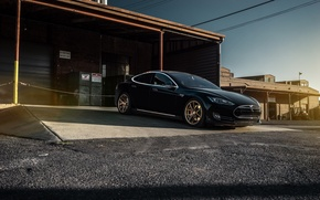 Картинка Car, Black, California, Forged, Tesla, Model S, P85